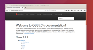 Figure 1: The OSSEC documentation on GitHub [2] provides plenty of details on how to customize OSSEC in more advanced ways than we have here.