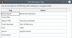 Figure 5: The metadata editor is sufficient but cannot compete with specialist tools.