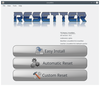 Figure 1: After startup, Resetter offers three options, including an automatic and a user-controlled reset.