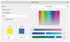 Figure 2: Scribus supports both RGB and CMYK color models and has many advanced features for choosing colors.