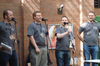 Figure 1: Jono Bacon, Stuart Langridge, Adam Sweet, and Chris Procter retire the popular LugRadio podcast.