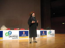 RMS as St. Ignutius at Desktop Summit